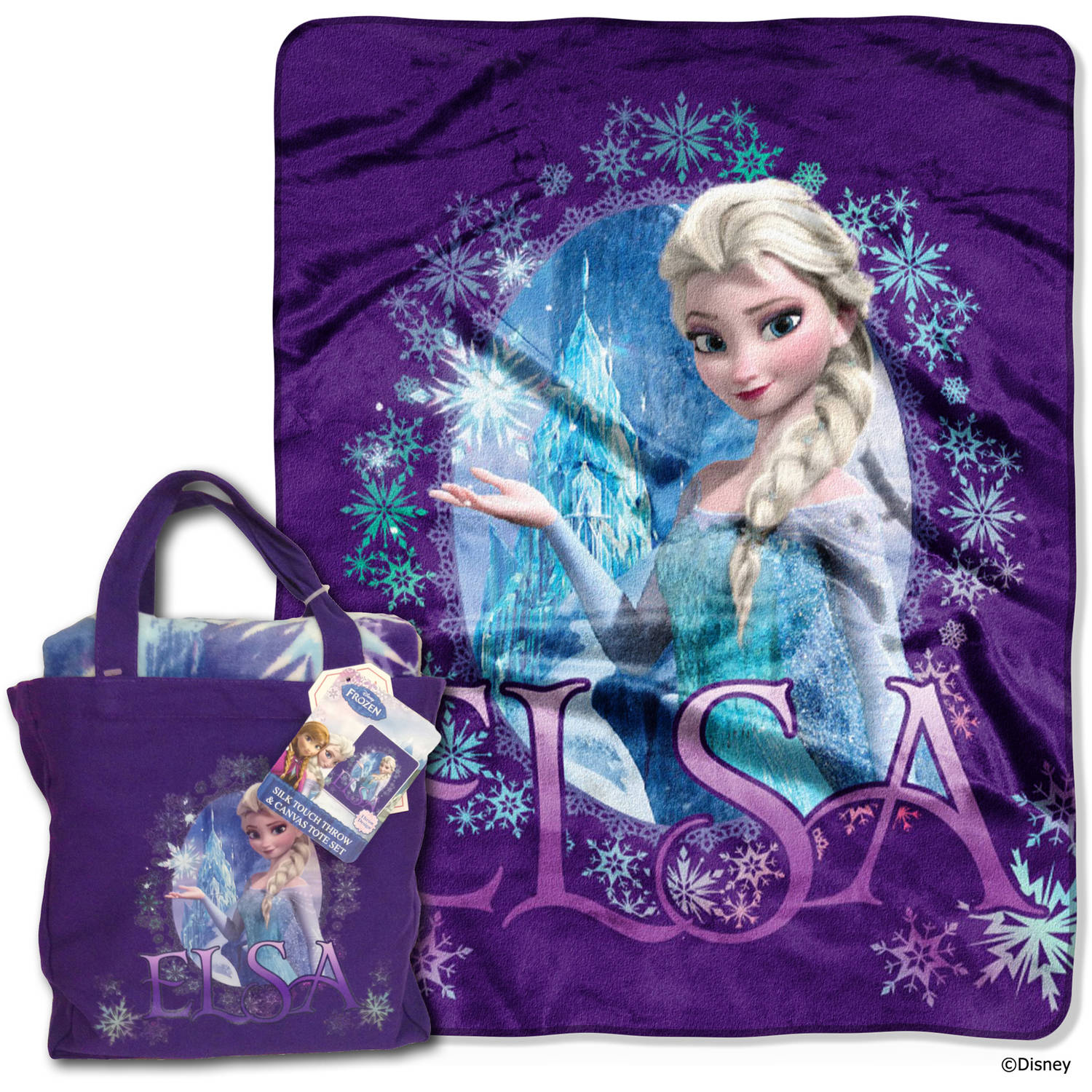 Disney Frozen Queen Elsa Tote and Throw Set