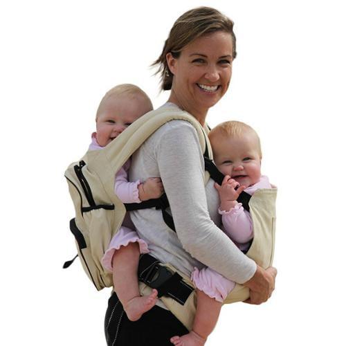 Twingaroo Twin Baby Carrier-Khaki