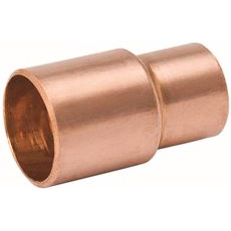 COPPER REDUCING COUPLING WITH STOP 3 4 IN X 1 2 IN