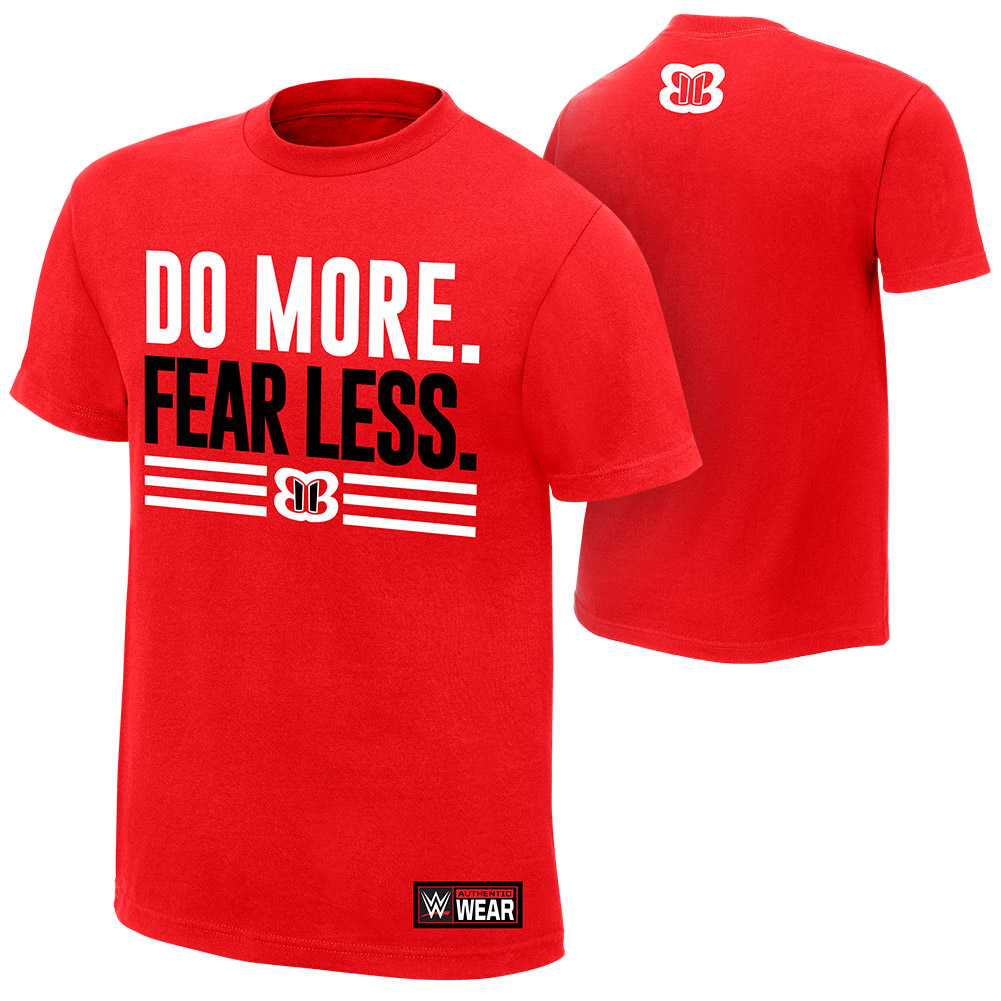 """Official Wwe Authentic Nikki Bella """"Do More, Fear Less"""" Youth  T-Shirt Red Small"""