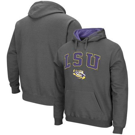 LSU Tigers Colosseum Arch & Logo Pullover Hoodie - (Bret Flight Of The Conchords Tiger Sweatshirt)