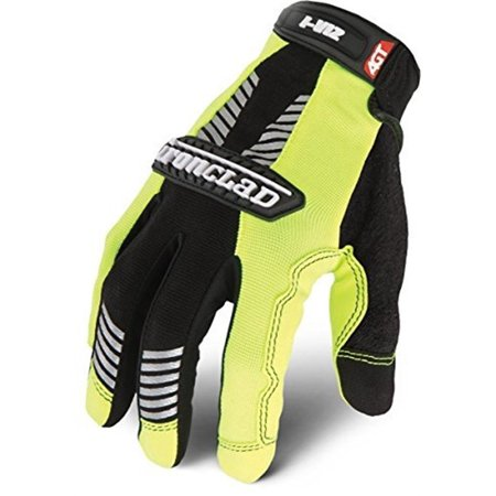 Ironclad Iviz Reflective Gloves - I-Viz Green 2 Reflectiveglove Large