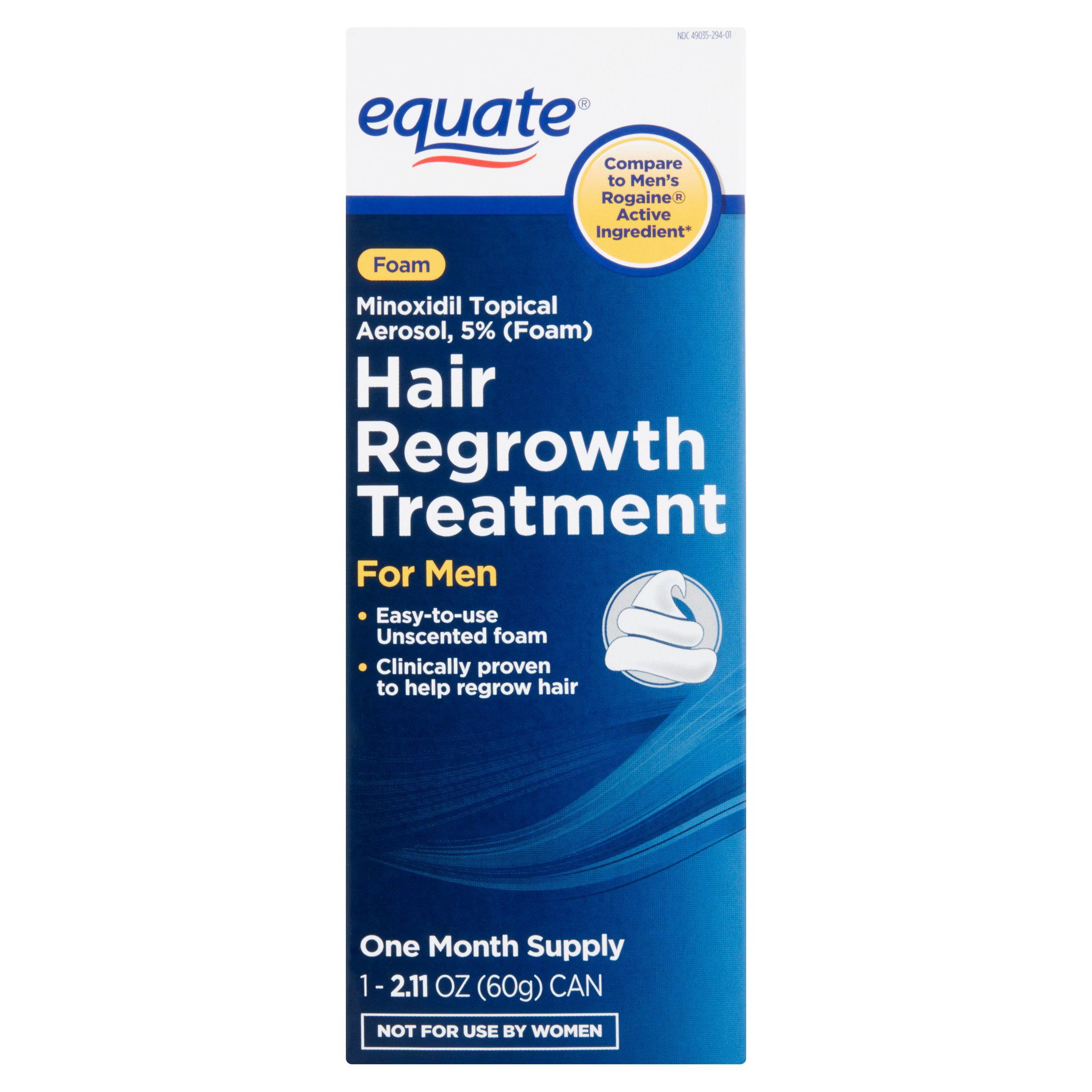 Equate Foam Hair Regrowth Treatment for Men, Foam, Minoxidil Topical Aerosol, 2.11 oz