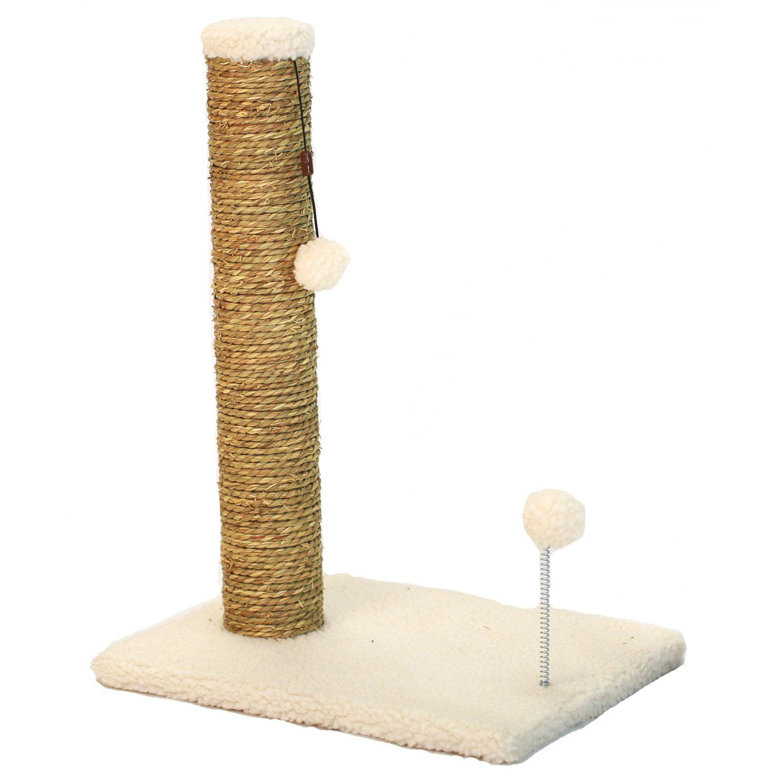 Cat Craft 18 Quot Sea Grass Scratching Post Beige Fleece
