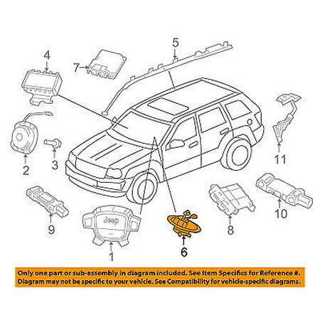 - Jeep CHRYSLER OEM Airbag Air Bag-Clockspring Clock Spring 68241522AC