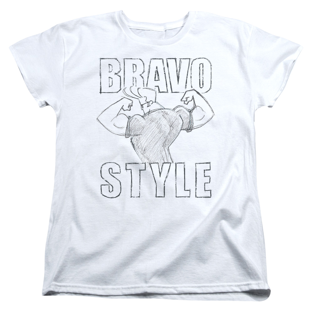 Johnny Bravo Bravo Style Womens Short Sleeve Shirt