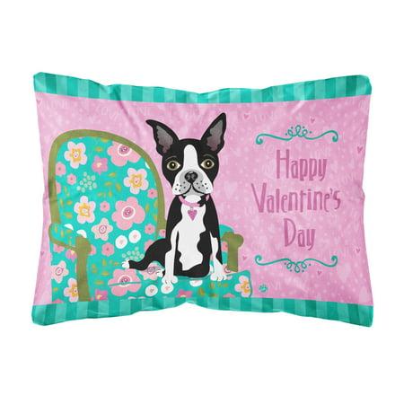 Happy Valentine's Day Boston Terrier Fabric Decorative Pillow Impressive Boston Terrier Decorative Pillow