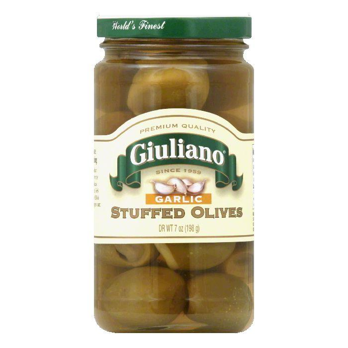 Giuliano Stuffed Garlic Olives, 7 OZ (Pack of 6) by