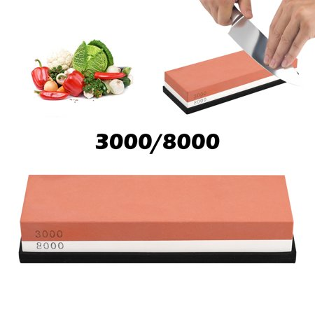 Sharp Pebble Premium Whetstone, Knife Sharpening Stone, 2 Side Grit 3000/8000 Waterstone | Best Whetston Sharpener | Anti-slip Silica Gel Whetstone Stand, Stone Holder