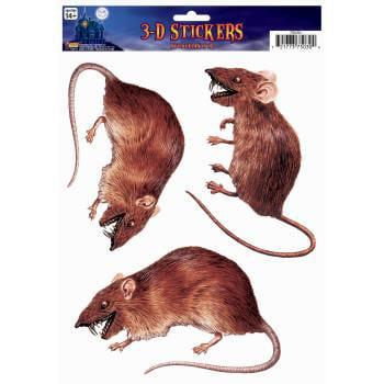 3D WINDOW STICKER-RAT 12 PACK
