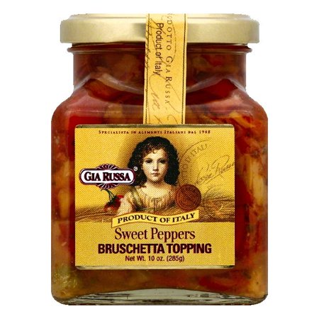 Gia Russa Sweet Peppers Bruschetta Topping, 10 OZ (Pack of 6)