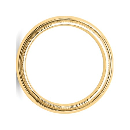 USA - 14k Yellow Gold 5mm Milgrain Comfort Fit Band Size 12 - image 1 of 3