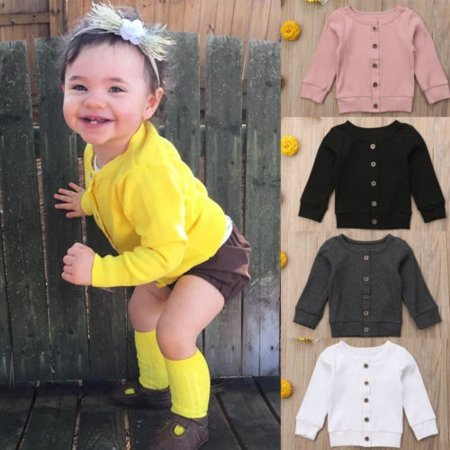 Knitted Cardigan Sweater O-Neck Baby Clothing Spring Autumn Kid Knitwear Coat - Handmade Baby Sweater
