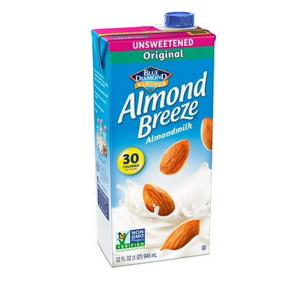 (4 pack) Almond Breeze Almondmilk, Unsweetened Original, 32 fl oz