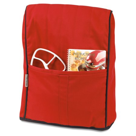 KitchenAid ® Cloth Cover, Empire Red (KMCC1ER) Protects your KitchenAid ® stand mixer, Convenient front pocket, Heavyweight quilted construction,100% Cotton with Polyester Filling