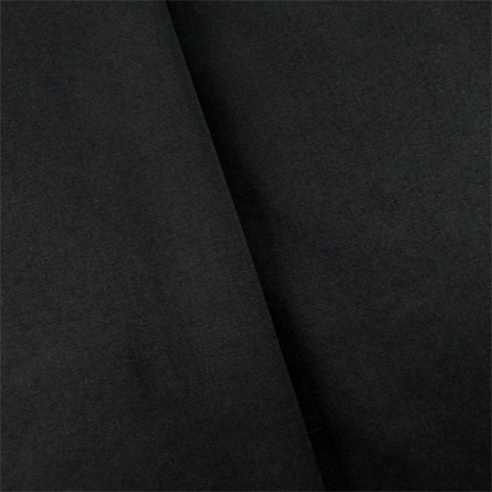 Obsidian Black Wool Blend Gabardine, Fabric By the -