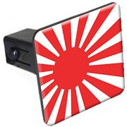 "Japan Rising Sun Flag 1.25"" Tow Trailer Hitch Cover Plug Insert"
