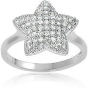 CZ Sterling Silver Star Ring