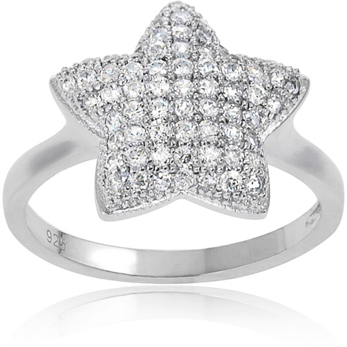 Brinley Co. CZ Sterling Silver Star Ring