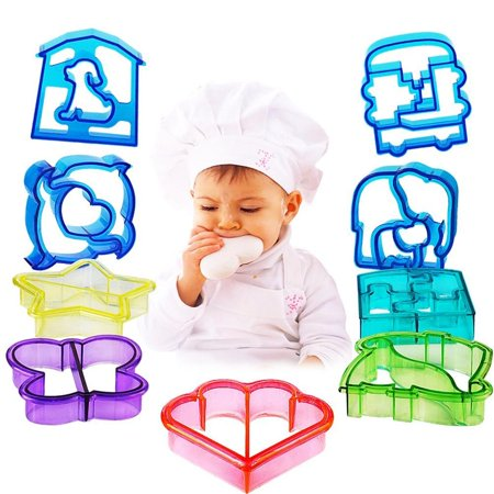sasrl sandwich and bread cutter shapes for kids set of 9 crust