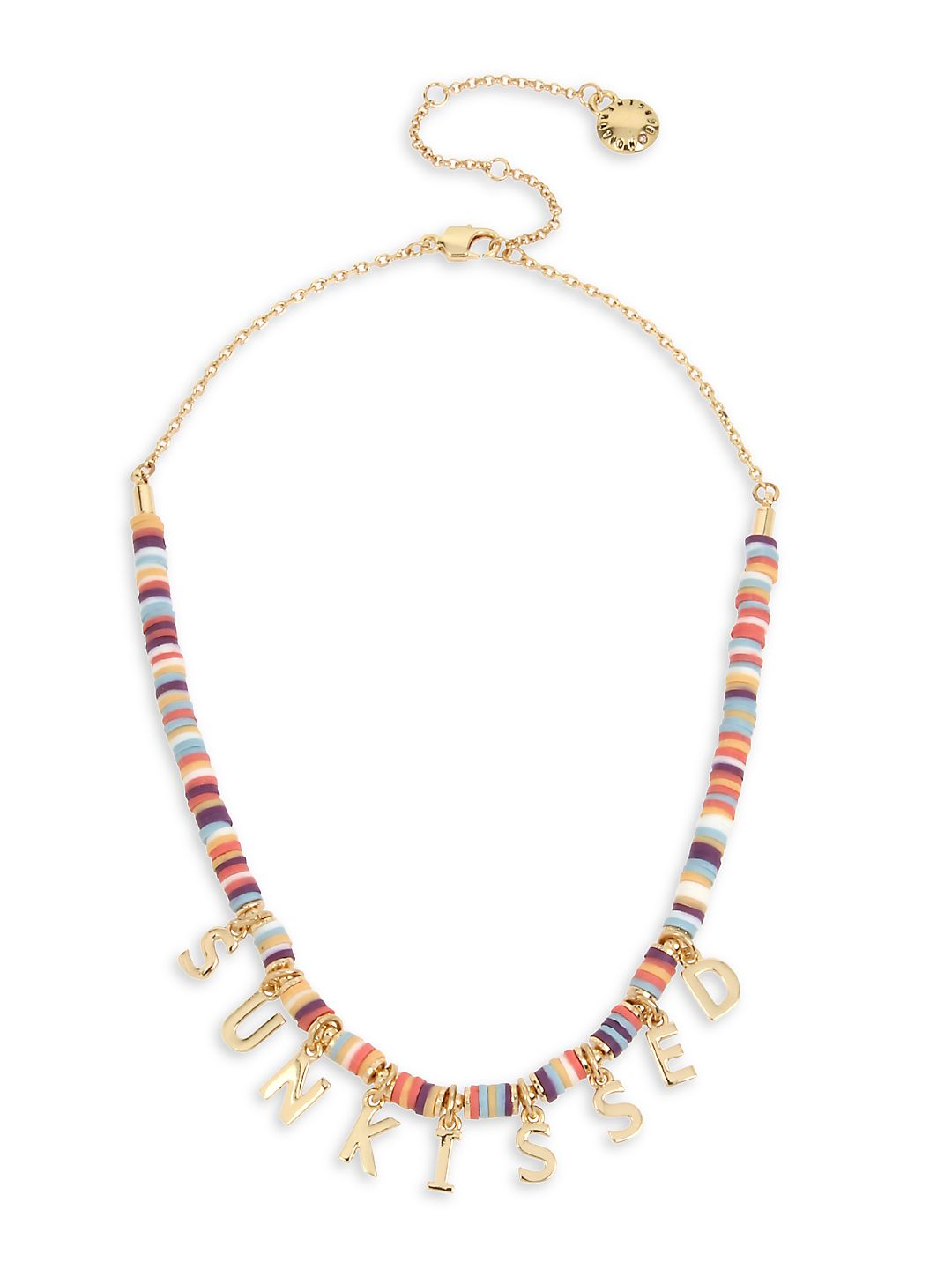 """""""SUNKISSED"""" Affirmation Charm Frontal Necklace"""