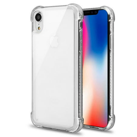 "Apple iPhone XR (6.1 Inch) - Phone Case Slim Thin Hybrid Candy Silicone Rubber Gel Soft Protective Case Cover Sturdy CLEAR Transparent Phone Case for Apple iPhone Xr (6.1"")"
