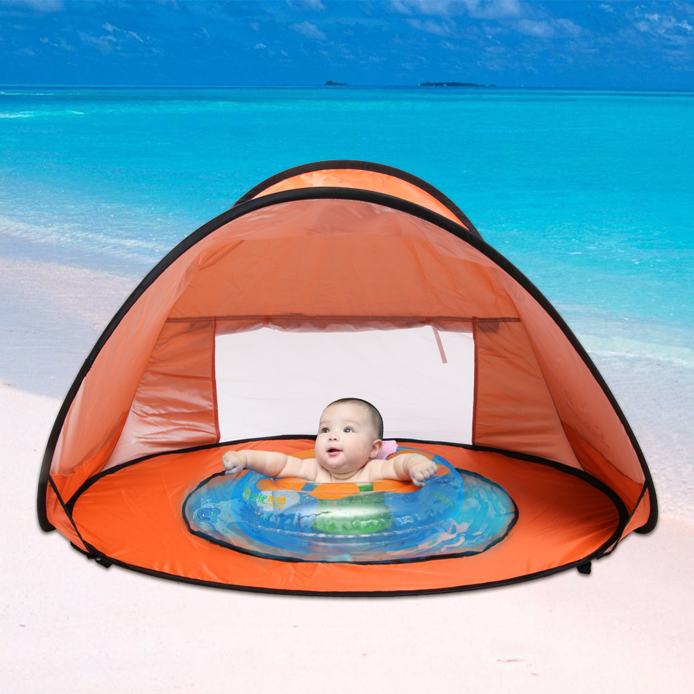 Baby Beach Tent Beach Umbrella Sunbayouth pop up tent UV Protection Sun Shelter Baby : inflatable beach tent - memphite.com