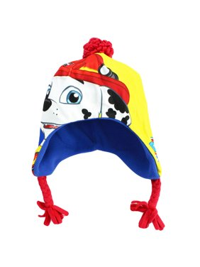 PAW Patrol Marshall Nickelodeon Winter Hat With Ear Flaps Blue Toddler 2T-4T