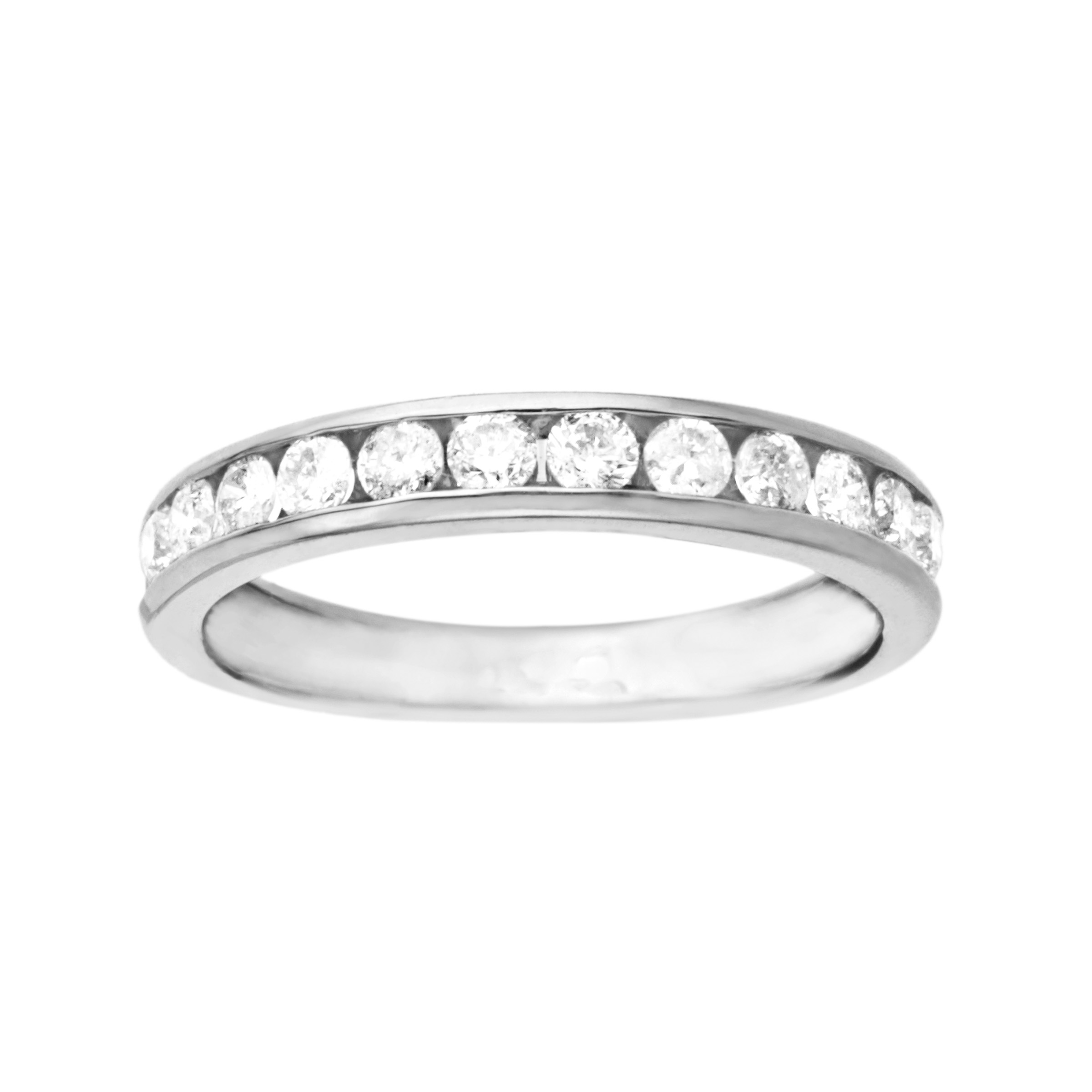 1 2 ct Diamond Wedding Band in 10kt White Gold Ring by Richline Group