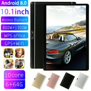 10.1 Inch HD Game Tablet Computer, PC Android 8.0 Ten-Core GPS WIFI Dual Camera Tablet 6G+64G Memory -Rose Gold