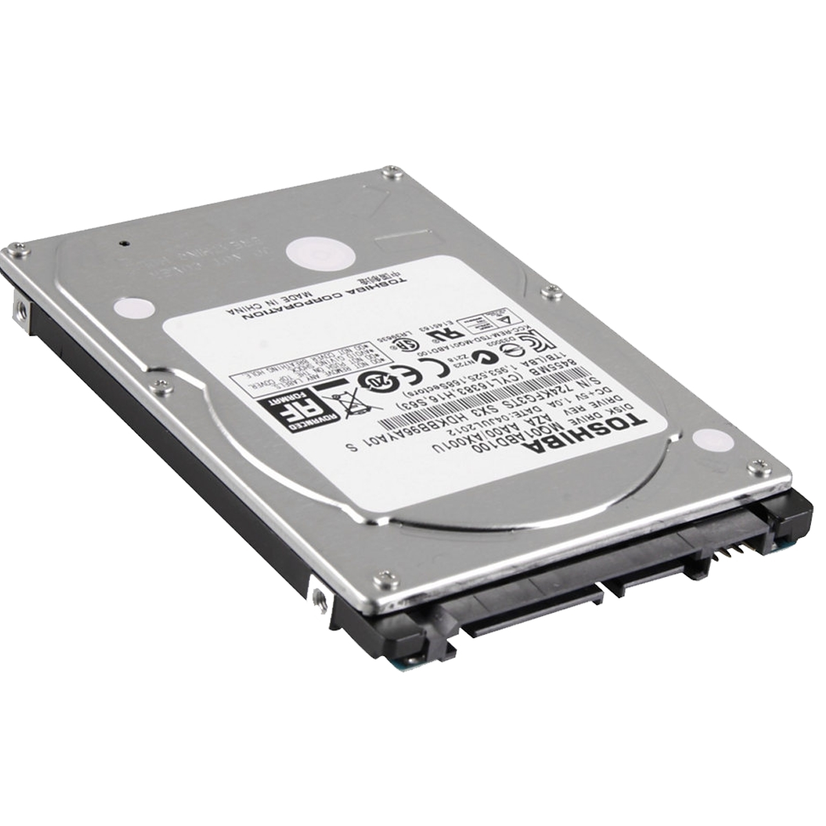 "Toshiba MQ01ABD100 1TB 5.4K RPM 2.5"""" 9.5mm SATA, Silver (Refurbished)"
