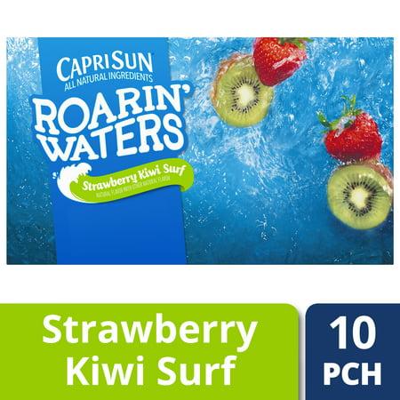 (4 Pack) Capri Sun Roarin' Waters Strawberry Kiwi Surf, 10 - 6 fl oz Pouches ()