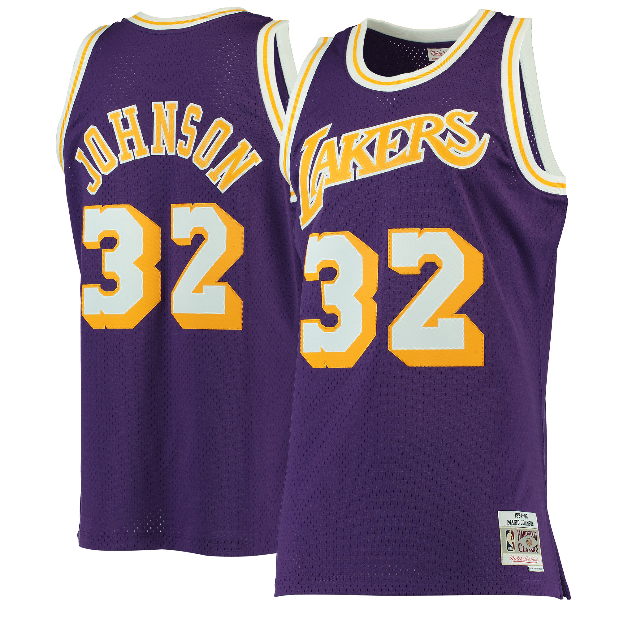 Magic Johnson Los Angeles Lakers Mitchell & Ness 1984-85 Hardwood Classics Swingman Jersey - Purple