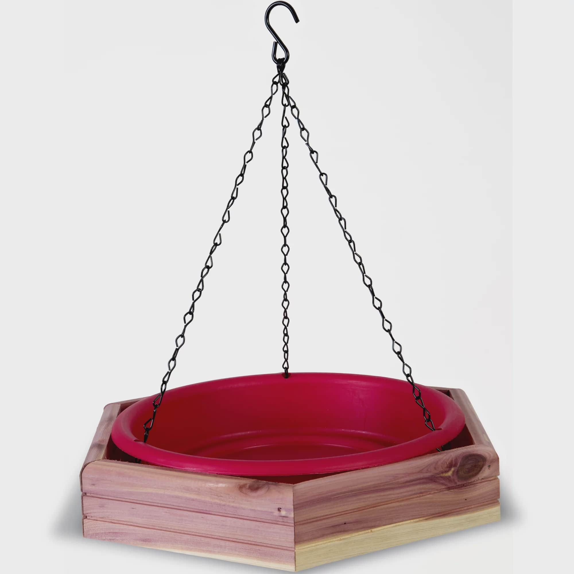 Pennington Seed Cedar 2-in-1 Wild Birdbath and Birdfeeder by Pennington Seed
