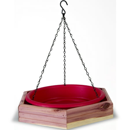 Pennington Seed Cedar 2-in-1 Wild Bird Bath and Bird Feeder ()