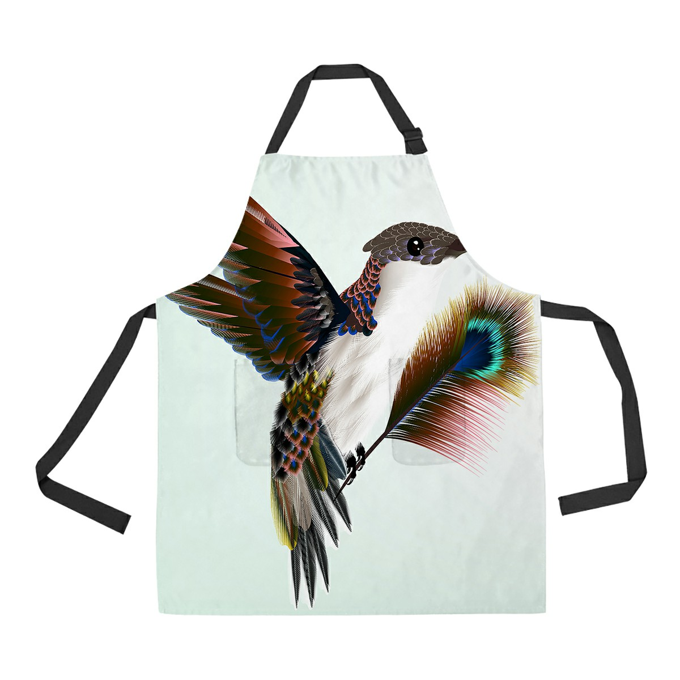 Cooking Apron Women\u2019s Apron Gift Apron Canvas Apron Kitchen Apron Birds and Bamboo Garden Apron
