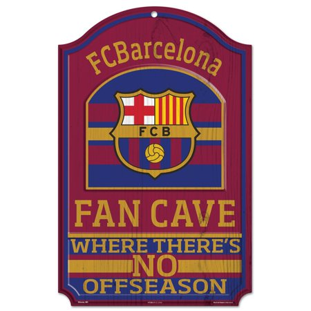11' Wood Sign - Fc Barcelona Official SOC 11