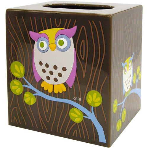 Allure Awesome Owls Tissue Box