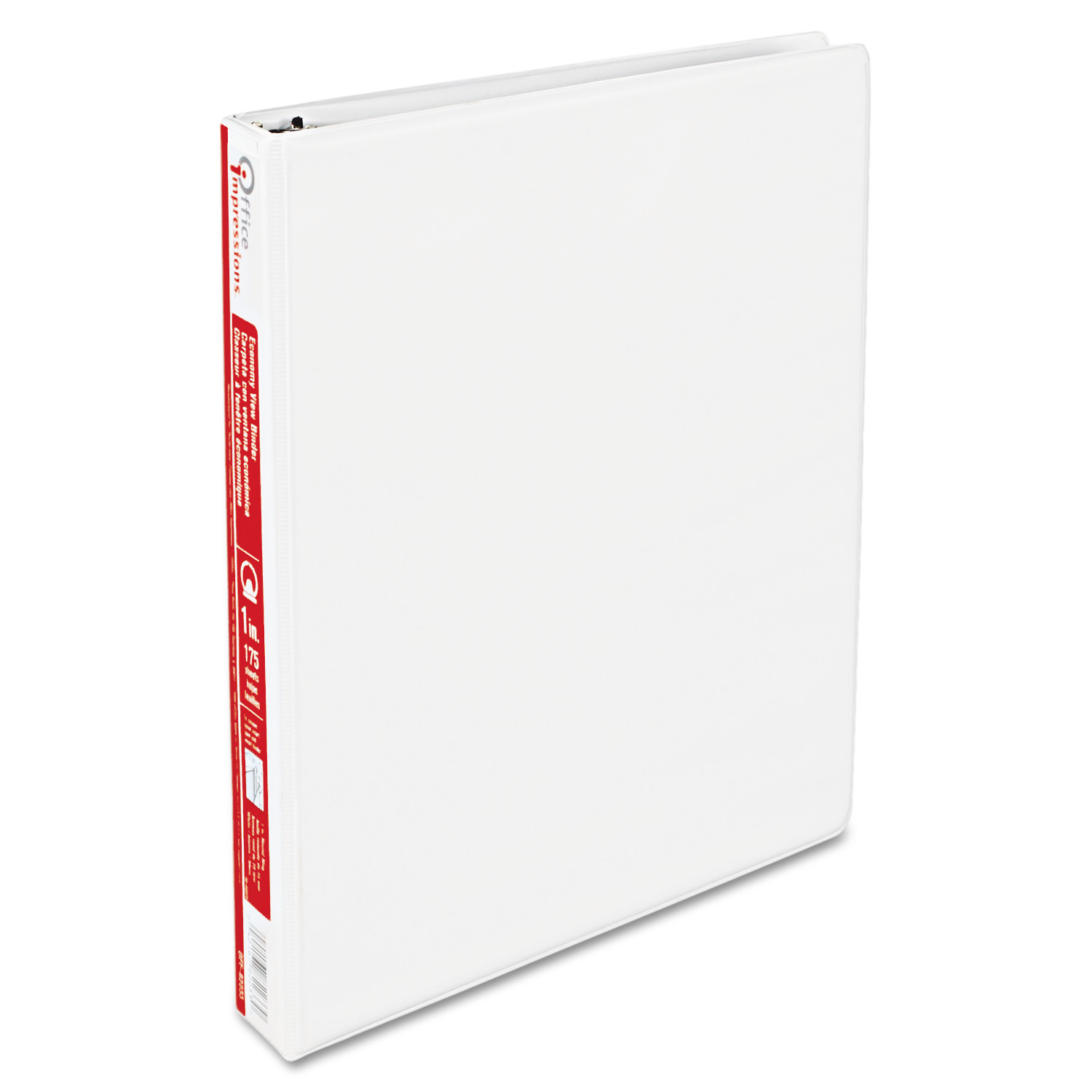 "Office Impressions Economy Round Ring View Binder, 1"" Capacity, White"