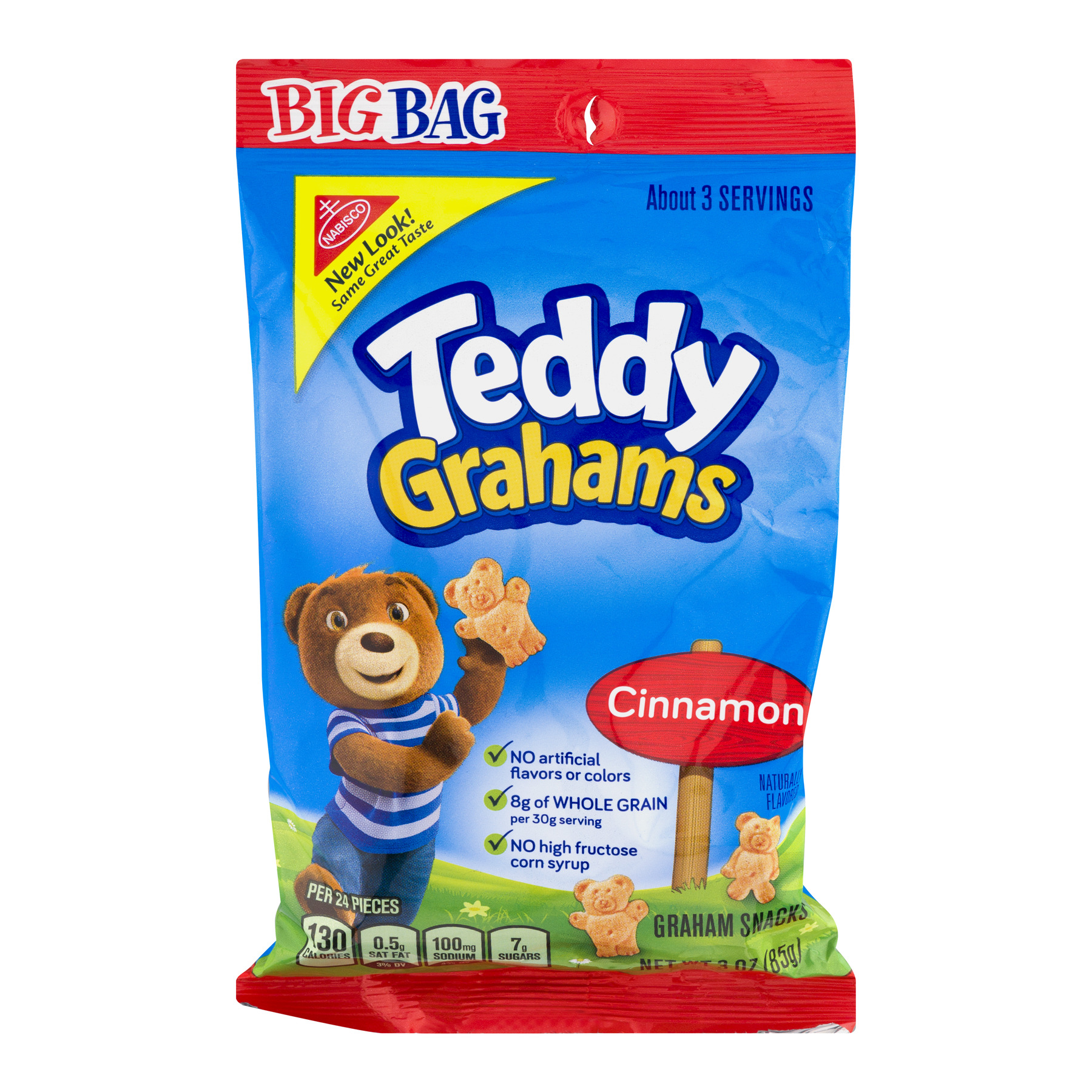 Nabisco Honey Maid Cinnamon Teddy Grahams Snacks, 3 oz