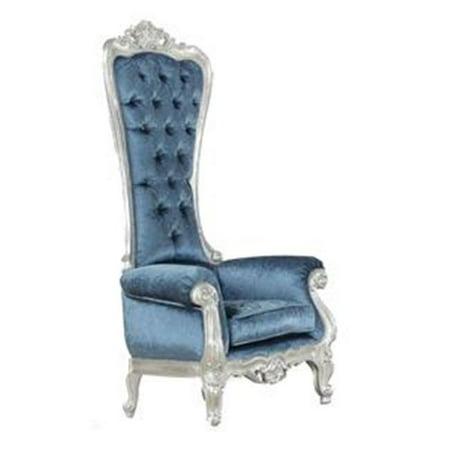 Awe Inspiring Acme Furniture 59142 Neo Classic Royal Black Accent Chair Machost Co Dining Chair Design Ideas Machostcouk