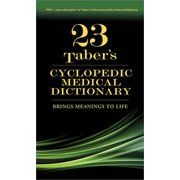 Taber's Cyclopedic Medical Dictionary (Deluxe Gift Edition Version) (Revised) (Hardcover)