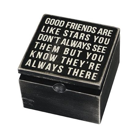 Good Friends Are Like Stars Keepsake Box Sign Wooden Hinged Box By Primitives By Kathy