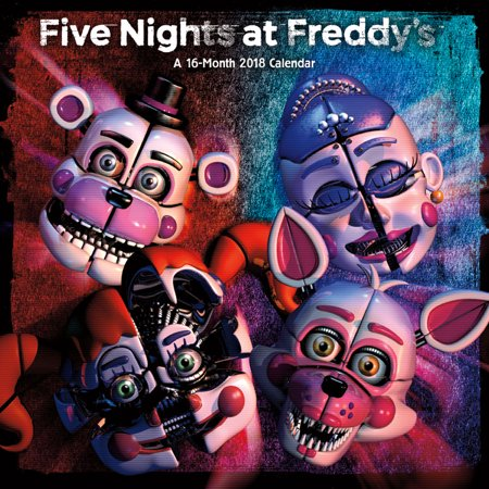 Five Nights At Freddys  Sister Location 2018 Wall Calendar