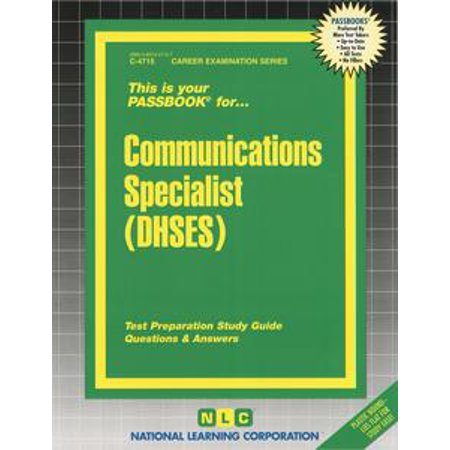 Communications Test - Communications Specialist (DHSES) - eBook
