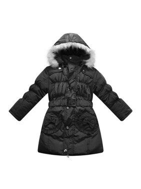 Richie House Girls Black Fur Hood Padded Winter Jacket 9