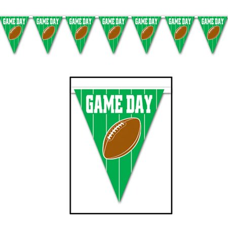 The Beistle Company Game Day Football Pennant Banner - Fantasy Football Banner