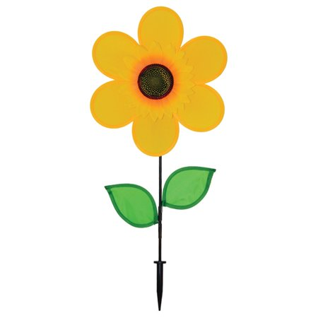 Sunflower Stake (In the Breeze Sunflower Spinner with Leaves,)