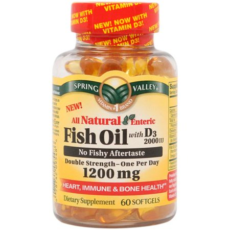 Spring valley enteric coated fish oil omega 3 plus vitamin for Enteric coated fish oil