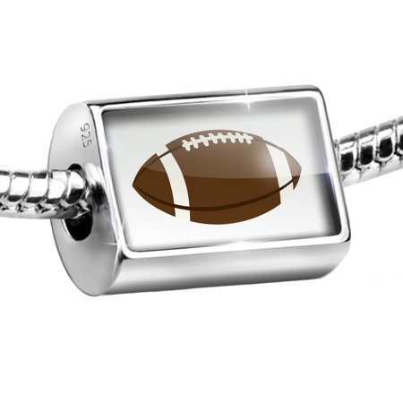 Bead Kids Design Football Charm Fits All European Bracelets